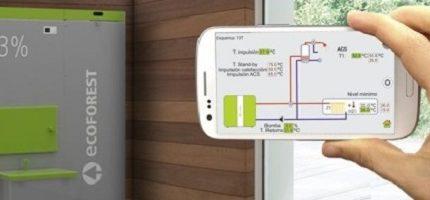 EasyNet de Ecoforest para controlar on-line su geotermia